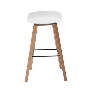 Picture of Neo Front Polypropylene Bar Chair, 47 cm, White