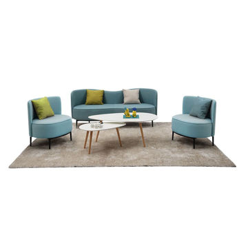 Picture of Neo Front Leather Sofa Set of 5, Blue