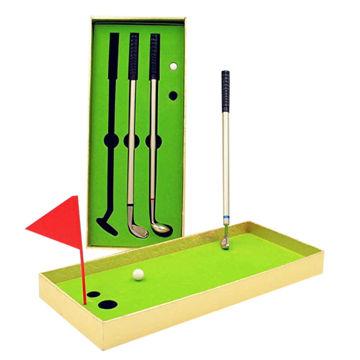Picture of Mini Golf Club Ball Pen In Gold Colour Box