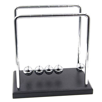 Picture of Newtons Cradle Balance Balls Wooden Base 7 1/4 Inch