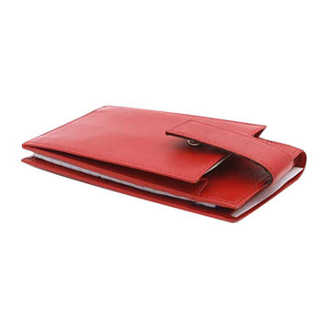 Picture of Red Leather Wallet With Memo Pad And Mobile Holder