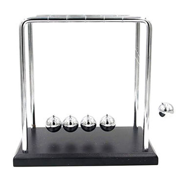Picture of Wooden Base And Metal Frame Newton's Cradle, Balancing Balls