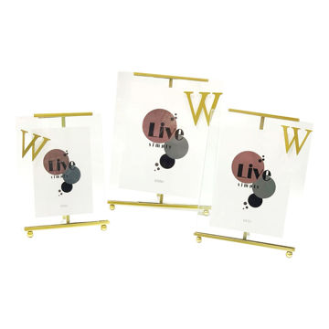 Picture of Ling Wei Modern Minimalist Metal Photo Frame, Gold