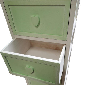 Picture of Retro Antique 3 Drawer Wooden Cabinet, X7-A, Green