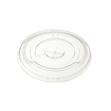 Picture of Hotpack Flat Shaped Lids, 355-473 ml, Clear - Pack of 1000