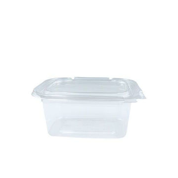 Picture of Hotpack Hinged Square Deli Container, 1.4 L, Clear - Pack of 200