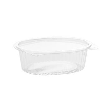 Picture of Hotpack Hinged Oval Container, 710 ml, Clear - Pack of 200