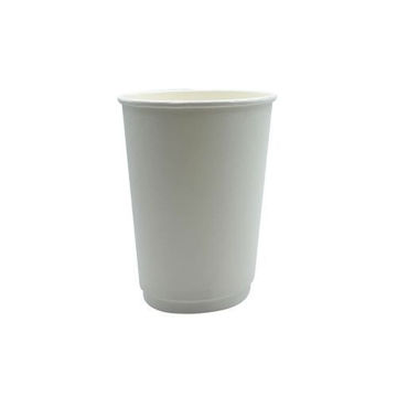 Picture of Hotpack Double Wall Paper Cup, 236 ml, White - Pack of 500