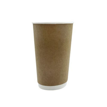 Picture of Hotpack Double Wall Kraft Paper Cup, 355 ml, Brown - Pack of 500