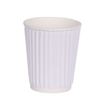 Picture of Hotpack Ripple Paper Cup, 355 ml, White - Pack of 500