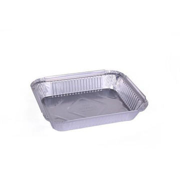 Picture of Rectangular Aluminium Foil Container Base, Silver - Pack of 400