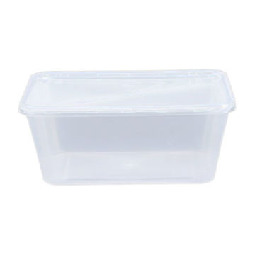 Picture of Lids for Rectangular Microwave Containers, Clear - Pack of 500