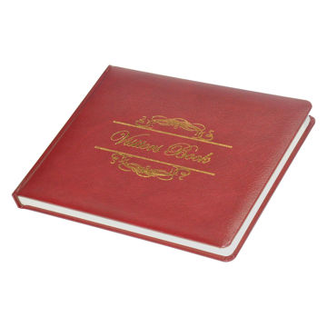 Picture of FIS Executive Bonded Leather Visitors Book - Maroon, Pack of 18