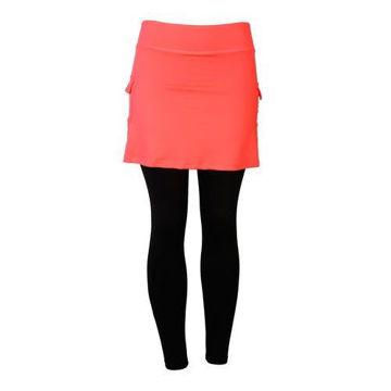 Picture of Prima Ladies Skirt with Leggings -  Orange, Black & Blue - Pack of 12