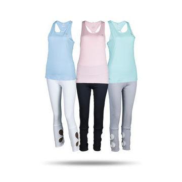 Picture of Prima Ladies Yoga Set -  Black, Grey & Blue - Pack of 12