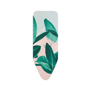 Picture of Iron Board Cover with Foam, Tropical Leaves - 124x45 cm
