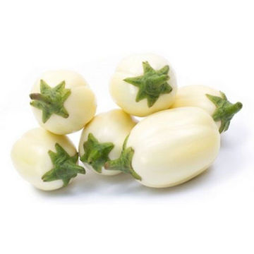 Picture of Large Fresh Eggplant, White, 5kg, 125 Pieces