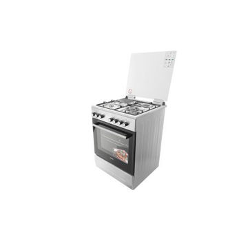 Picture of Simfer Cooker 3 Gas Burner & Electric Hotplate, Stainless Steel, 6312NEI