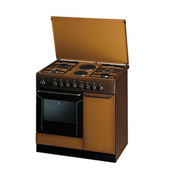 Picture of Indesit 4 Gas Burners & 2 Electric Cooker, K9B11SB(B), Brown