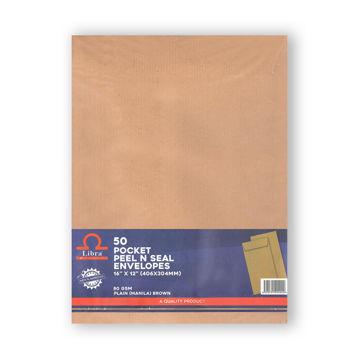 Picture of Libra A3 Plain Brown Envelopes 85gsm, 16x12, Peel & Seal 1,000pcs/ctn