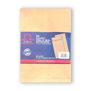 Picture of Libra A5 Plain Envelops, Brown, Peel & Seal, Carton of 2000 Pieces