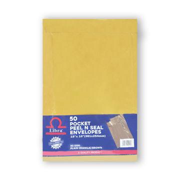 Picture of Libra FC Envelopes, Plain Brown, Peel & Seal, Carton of 1000 Pieces