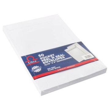 Picture of Libra A4 Envelopes, White, Peel & Seal, Carton of 1000 Pieces