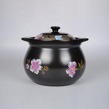 Picture of JD Kitchenware Arst Heat Resistant Porcelain Pot, 3.5L , Black