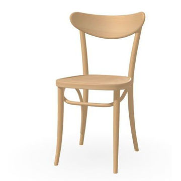 Picture of Banana Solid Beech Wood Frame Chair- Cappucino