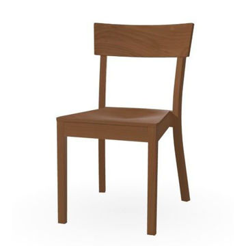 Picture of Bergamo Solid Beech Wood Frame Chair- Nougat
