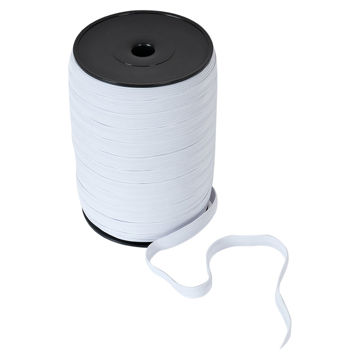 Picture of Braided Flat Elastic Sewing Band, White - Pack Of 50