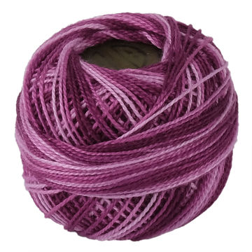 Picture of Crochet 95Y Cotton Yarn Thread Balls, Mauve - Pack Of 100