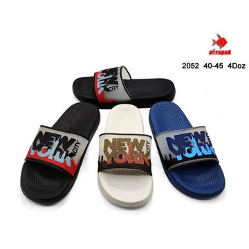 Picture of Colorful Printed Sliders For Men, 2052, Assorted, Carton of 48 Pcs