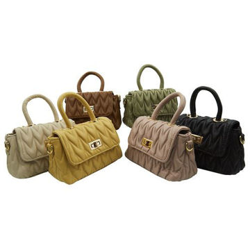 Picture of Mini Quilted Crossbody Sling Bag, Assorted, 36 Pcs