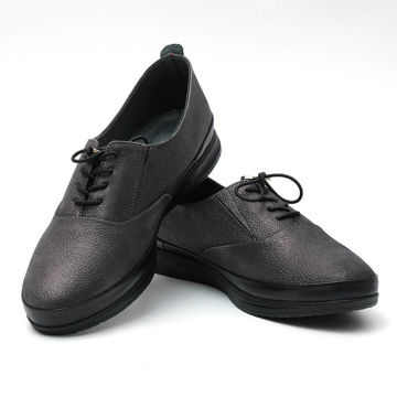 Picture of Leather Almond-Toe Lace-Up Shoes, Platinum - Carton of 12
