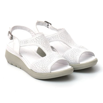 Picture of Leather Buckle Strap Wedge-Heels Sandals - Carton of 12