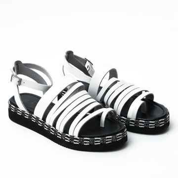 Picture of Leather Buckle Strap Casual Sandals - Carton of 12