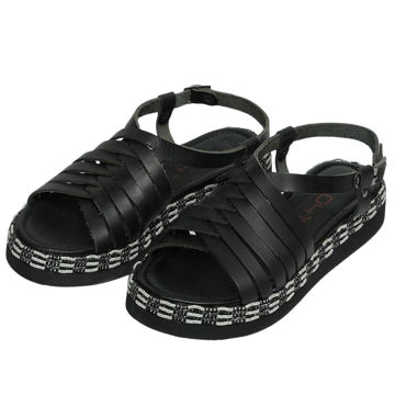 Picture of Leather Stitched Buckle Strap Sandals - Carton of 12