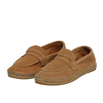 Picture of Leather Apron-Toe Slip-On Espadrilles - Carton of 12