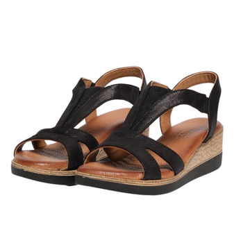 Picture of Leather Stitched Elastic Casual Sandals - Carton of 12