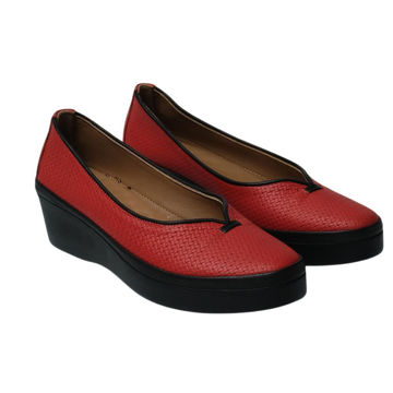 Picture of Leather Round-Toe Wedges Ballerina - Carton of 12