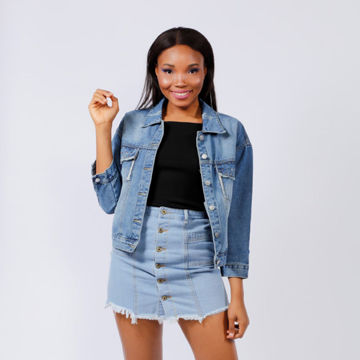 Picture of Classic Denim Jacket with Pockets, Blue - Pack of 12