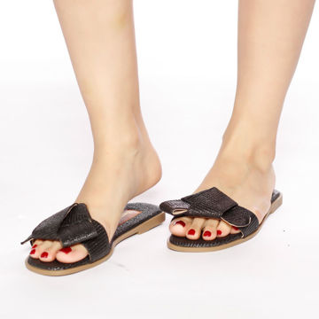 Picture of Casual Shimmery Jute Flat Slippers - Pack of 12