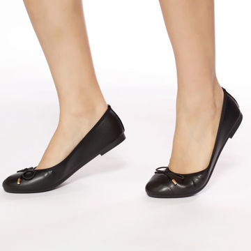 Picture of Classic Round-Toe Ballerina Shoes with Bow - Pack of 12