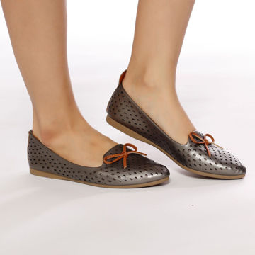 Picture of Patterned Ballerina Shoes with Bow - Pack of 12