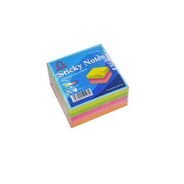 Picture of Libra Sticky Note Cube 5 Colors Neon, 2x2cm