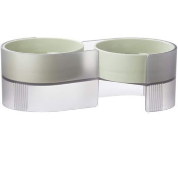 Picture of JD Pidan Elevated Cat Bowls Set with Tilted Stand and 2 Removable Bowls