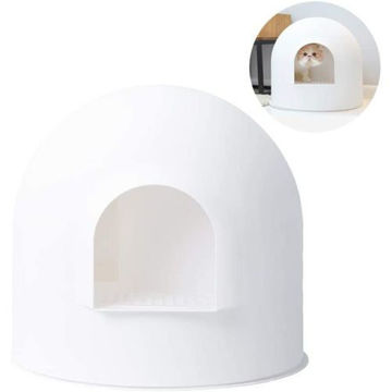 Picture of JD Pidan Igloo Cat Litter Box Enclosure with Lid - PD1001W1