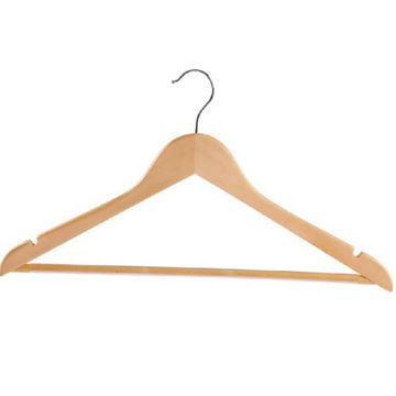 Picture of JD Wooden Cloth Hangers, Brown, Set of 5pcs