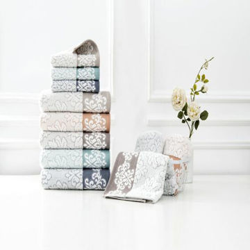 Picture of JD Super Soft Towel, White and Brown